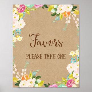 Favors Wedding Poster Print