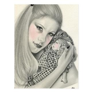 Favourite Doll postcard