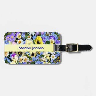 Favourite Flowers Bag Tag