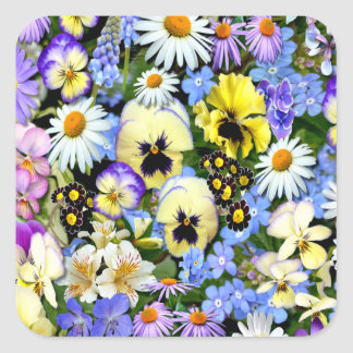 Favourite Flowers Square Sticker