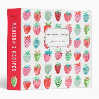 Favourite Recipes   Strawberries   Custom   Binder