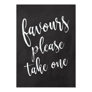 Favours Please Take One Affordable Chalkboard Sign Card