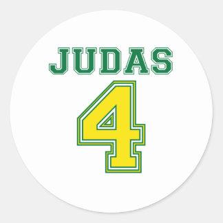 Favre Judas Classic Round Sticker