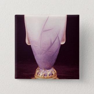 Favrile vase with ormolu base pinback button