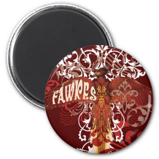 Fawkes Spread Wings 2 Inch Round Magnet