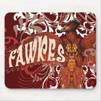 Fawkes Spread Wings Mouse Pads