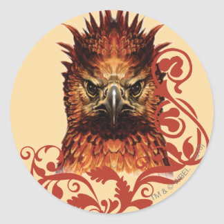 Fawkes Staring Classic Round Sticker