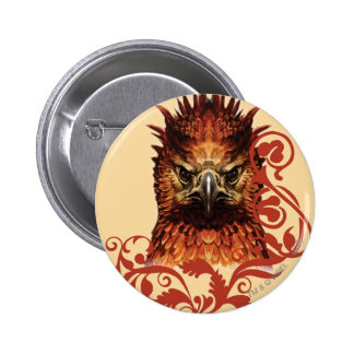 Fawkes Staring Pinback Button