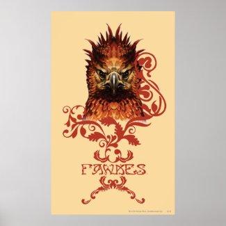 Fawkes Staring print