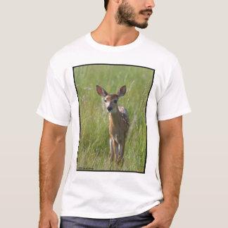 """Fawn #2"" white-tail deer T-Shirt"