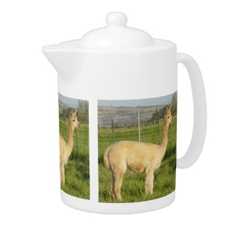 Fawn Alpaca Cria Teapot