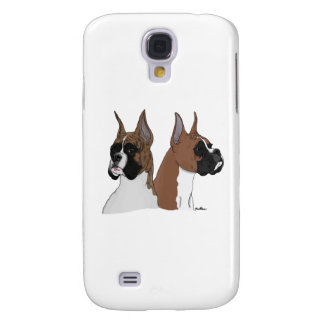Fawn and Brindle Boxers Galaxy S4 Covers