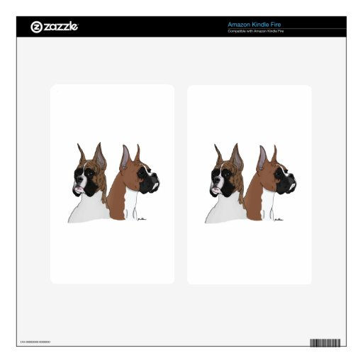 Fawn and Brindle Boxers Decals For Kindle Fire