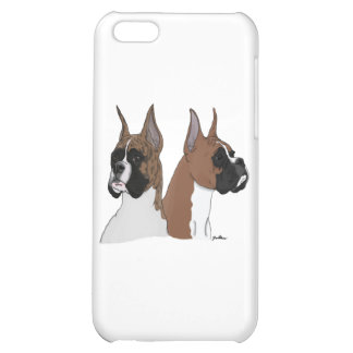 Fawn and Brindle Boxers iPhone 5C Cover