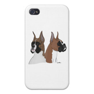 Fawn and Brindle Boxers iPhone 4/4S Cover