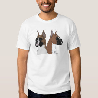 Fawn and Brindle Boxers T-shirts