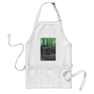 Fawn and Momma Adult Apron