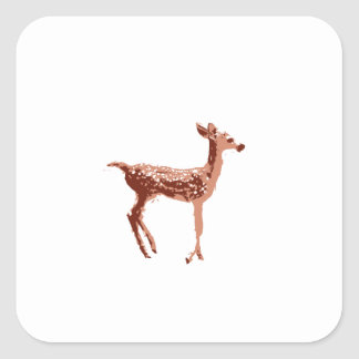 Fawn - Baby Deer Square Sticker