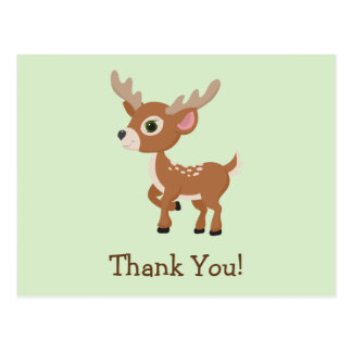Fawn, Baby Deer Thank You Postcard