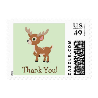 Fawn, Baby Deer Thank You Stamp
