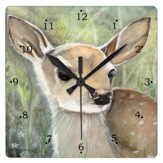 Fawn Baby Deer Wall Clock