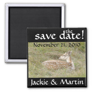 Fawn Baby Deer Wildlife Save the Date Magnet