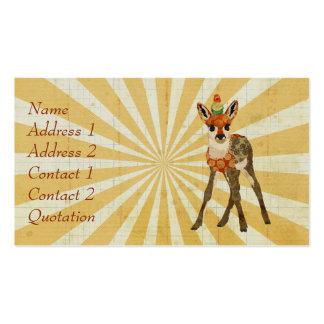 Fawn & Bird Business Card Pack Of Standard Business Cards