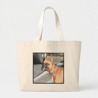 Fawn Boxer Dog Large Tote Bag