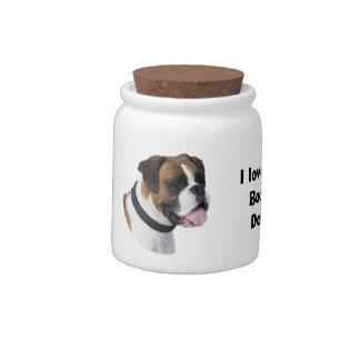 Fawn Boxer dog pet photo Candy Jars