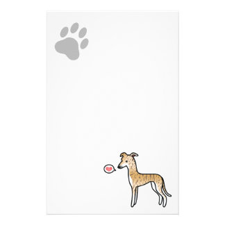Fawn Brindle Greyhound / Whippet Love Stationery