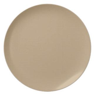 Fawn brown circles dinner plates