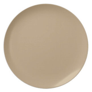 fawn brown dinner plate