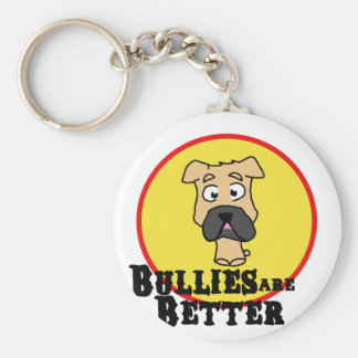 Fawn Bulldog/Mastiff (Bullies are Better) Basic Round Button Keychain