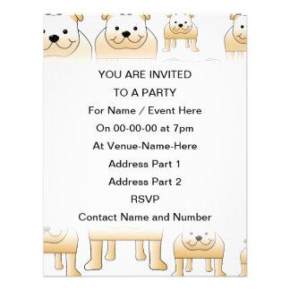 Fawn Bulldogs Personalized Invite