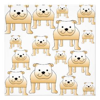 Fawn Bulldogs Personalized Invitations