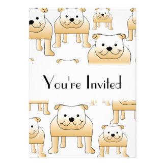 Fawn Bulldogs Custom Invitation