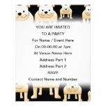 Fawn Bulldogs on Black. Personalized Announcements