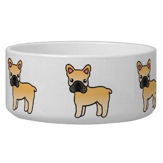 Fawn Cartoon French Bulldog Bowl