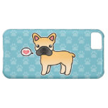Fawn Cartoon French Bulldog Love Cover For iPhone 5C