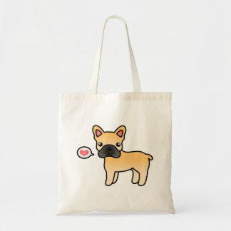 Fawn Cartoon French Bulldog Love Tote Bag