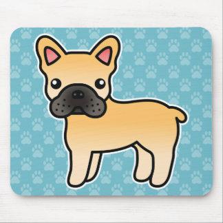 Fawn Cartoon French Bulldog Mouse Pad