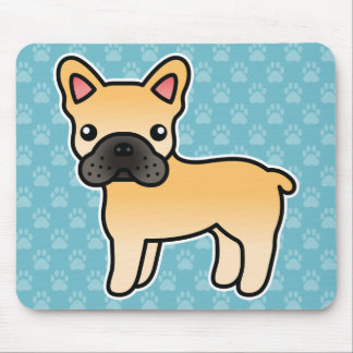 Fawn Cartoon French Bulldog Mouse Pads