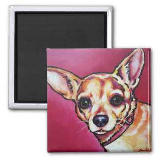 Fawn Chihuahua 2 2 Inch Square Magnet