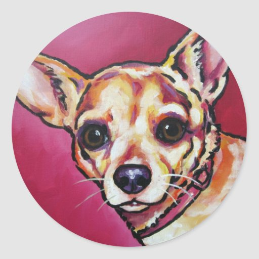 Fawn Chihuahua 2 Round Stickers
