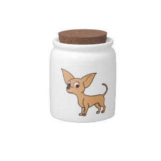 Fawn Chihuahua Candy Dish