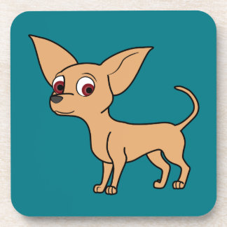 Fawn Chihuahua with Short Hair Beverage Coaster