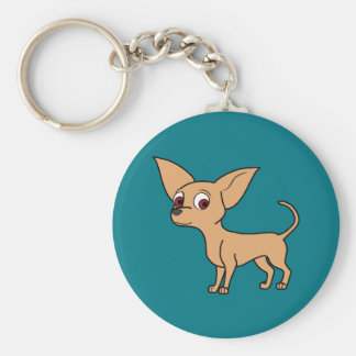 Fawn Chihuahua with Short Hair Keychain