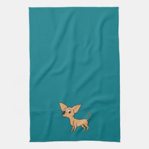 Fawn Chihuahua with Short Hair Kitchen Towel