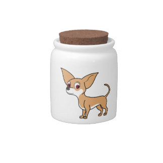 Fawn Chihuahua with White Markings Candy Dish