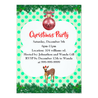 Fawn Christmas Party Invitation